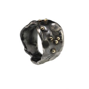 ring silver925 gold 14k black