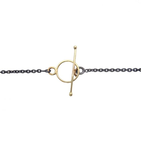 necklace gold 14k silver lock detail