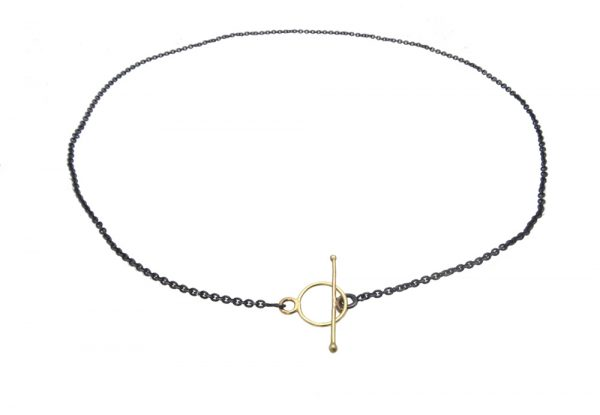 necklace silver gold 14k lock round