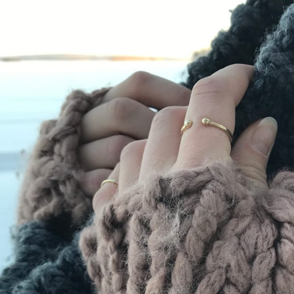 ring gold 14k cuff detail simple lapland