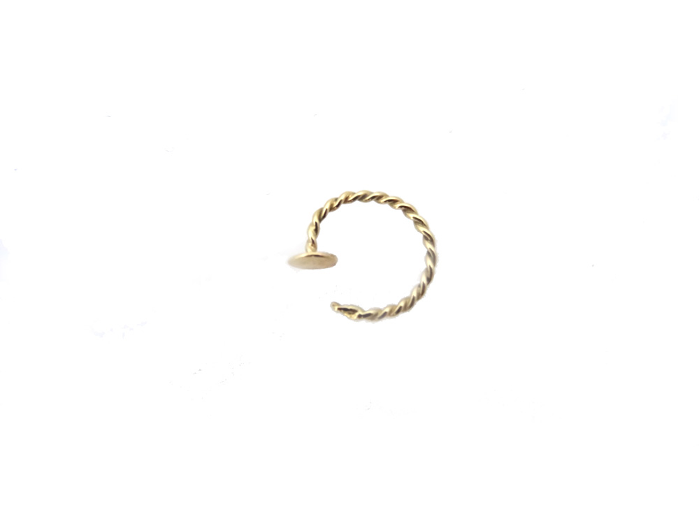 earring gold 14k helix above