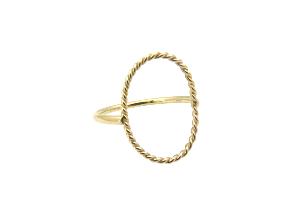 ring gold 14k move twist