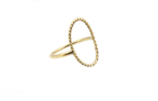 ring-gold 14k move side closeup
