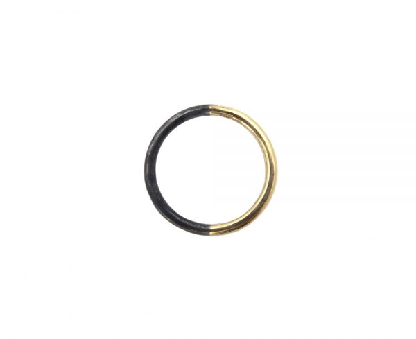 ring gold 14k silver duo black oxyd