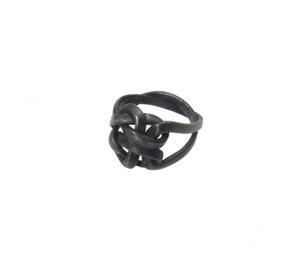 ring silver node black oxyd