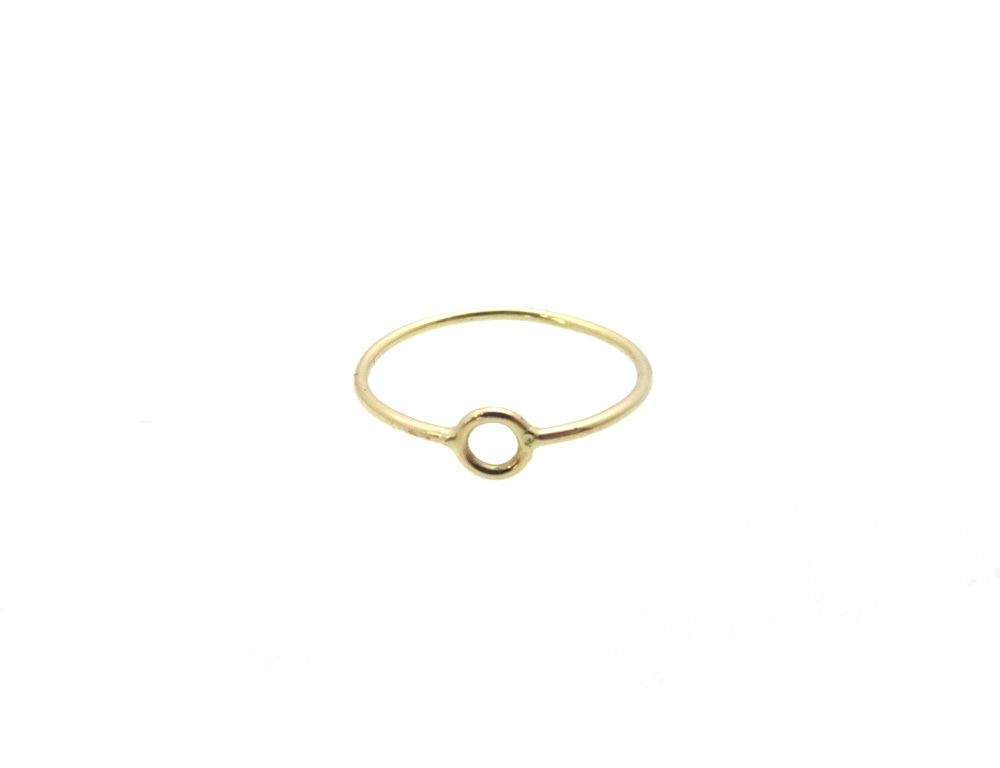 toe ring gold 14k inner front small