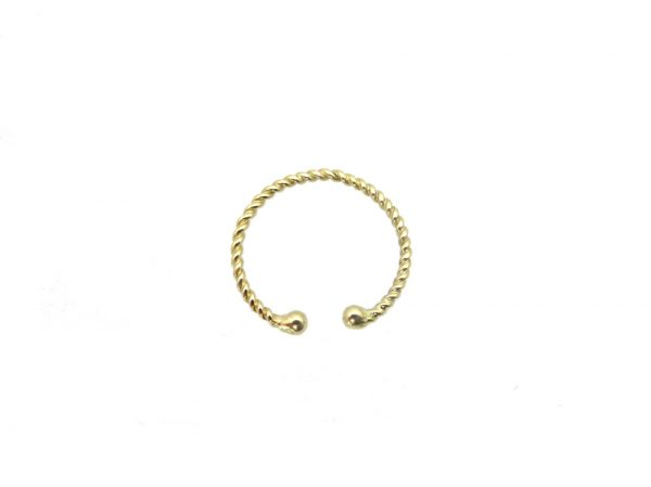 toe ring gold 14k dome