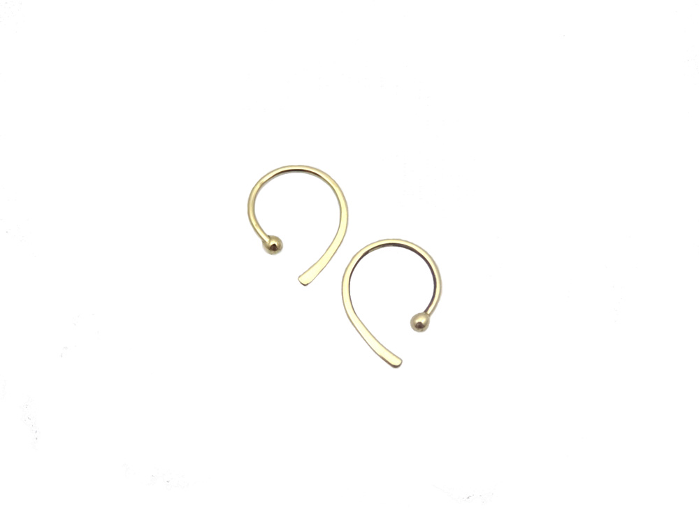 earring gold 14k dubble pin