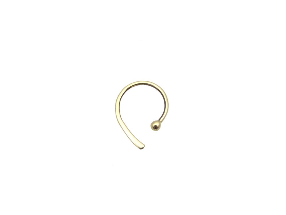 earring gold 14k pin
