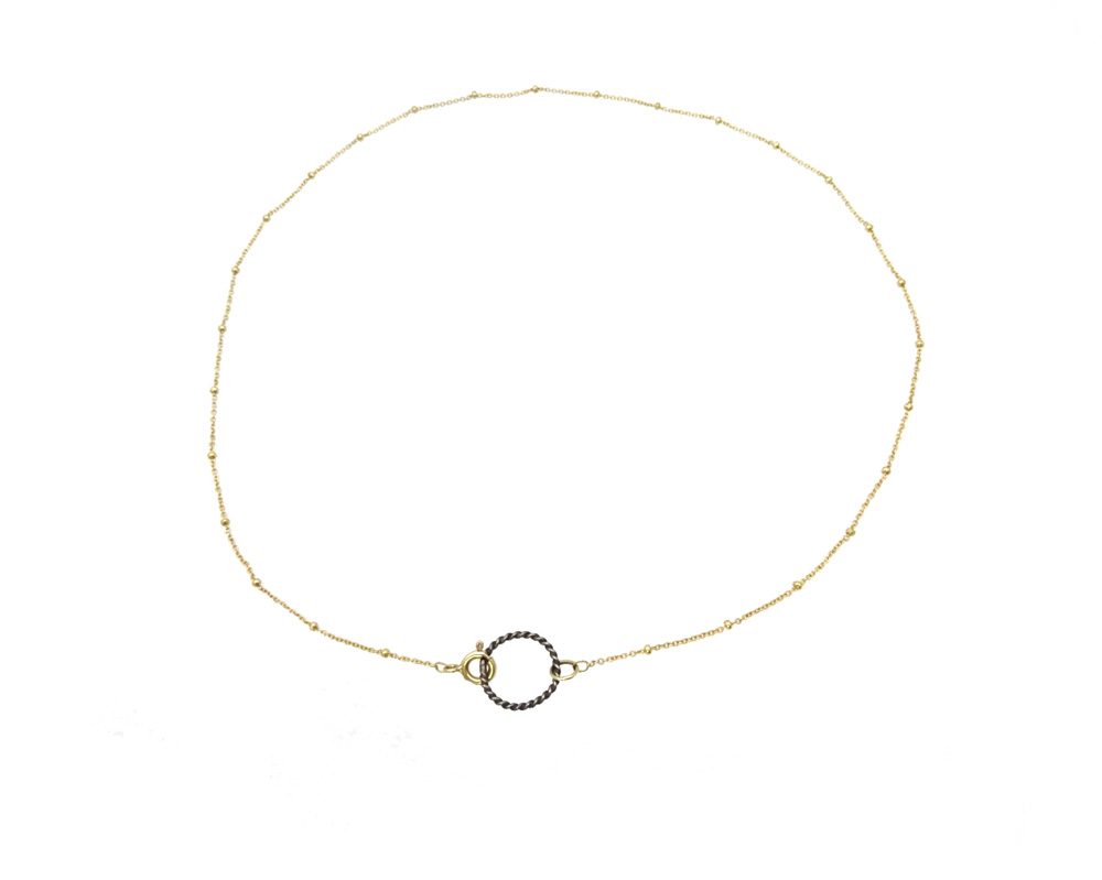 necklace gold silver bamboo spirit