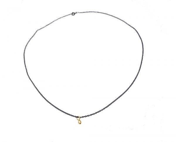 necklace gold silver bulb hole black
