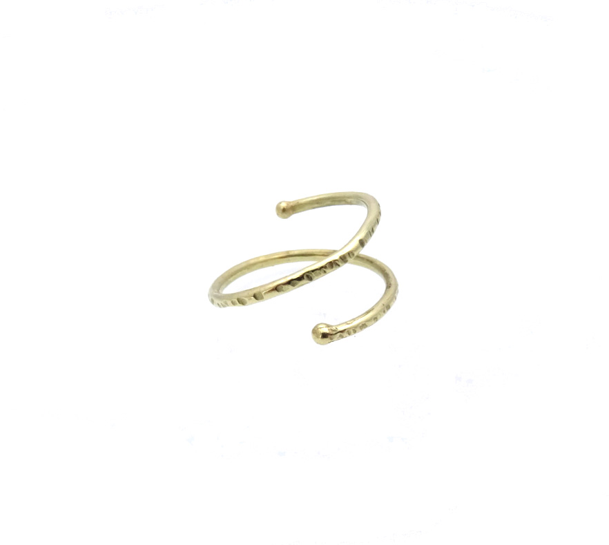 toe ring pinky ring gold 14k bouble