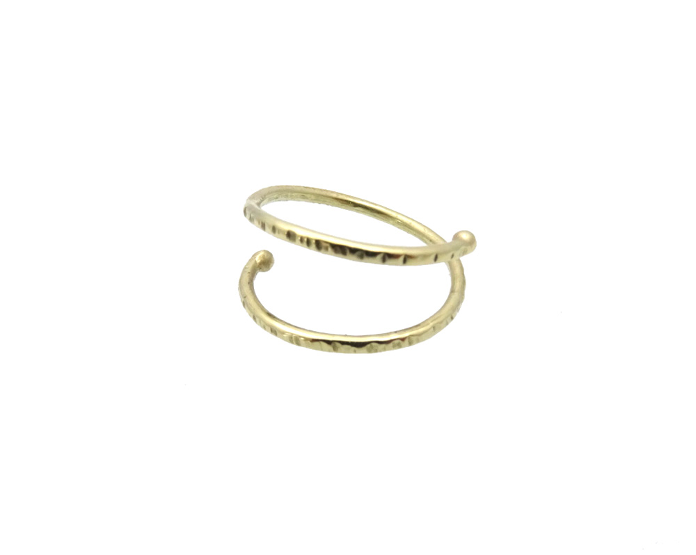 toe ring pinky ring gold double side