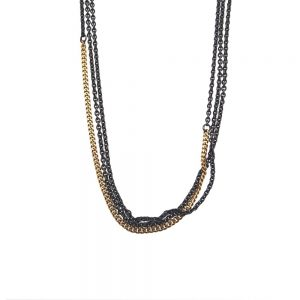 necklace-14k-gold-piece-silver-925-black-oxyd
