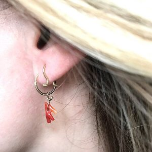 earring baby omega octo gold