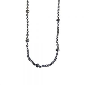 necklace-925-silver-bamboo-black-oxyd